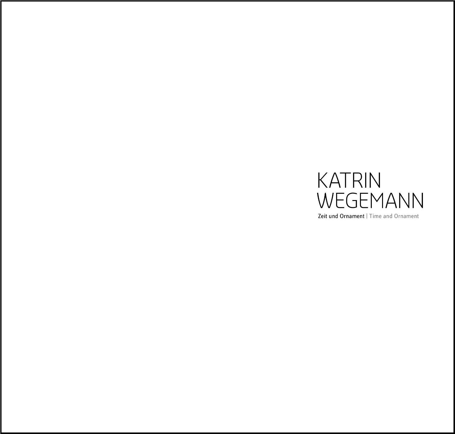 Einzelkatalog – Katrin Wegemann